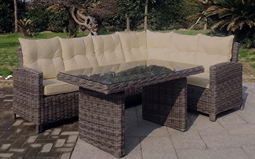 Baidani garten lounge garnitur rundrattan magic select - Lounge garnitur garten ...