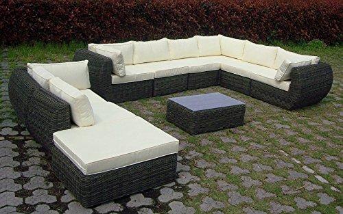 baidani rundrattan garten lounge garnitur majesty. Black Bedroom Furniture Sets. Home Design Ideas