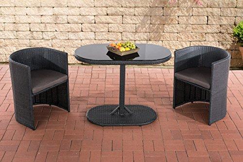 clp poly rattan balkonm bel sitzgruppe alena 2 personen aluminium gestell platzsparend. Black Bedroom Furniture Sets. Home Design Ideas