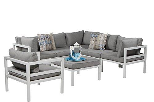 garden impressions lounge set palermo wei 7 teilig 0 m bel24. Black Bedroom Furniture Sets. Home Design Ideas