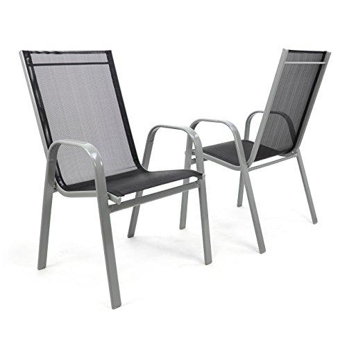 gartenstuhl 2er set stapelstuhl stapelsessel hochlehner. Black Bedroom Furniture Sets. Home Design Ideas