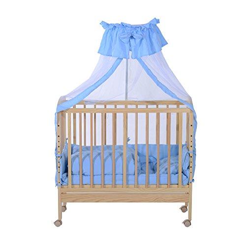 homcom babybettset babybett beistellbett gitterbett babywiege schaukelwiege mit bettw sche. Black Bedroom Furniture Sets. Home Design Ideas