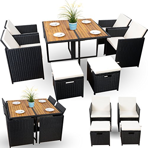 kleine rattan sitzgruppe balkon set polyrattan sitzgruppe. Black Bedroom Furniture Sets. Home Design Ideas