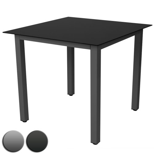 miadomodo gartentisch glastisch beistelltisch aluminium gartenm bel m bel24 shop xxxl. Black Bedroom Furniture Sets. Home Design Ideas
