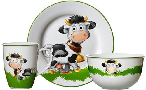 Ritzenhoff & Breker Frühstücksgeschirr-Set Kuh Heidi, 3-teilig, Porzellan