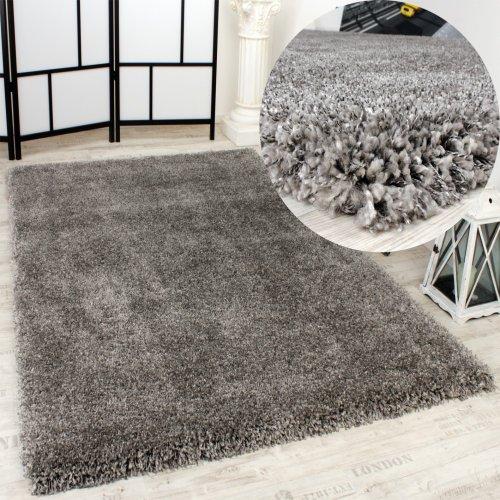 shaggy teppich rio xxl super shaggy hochflor langflor uni grau m bel24 shop xxxl. Black Bedroom Furniture Sets. Home Design Ideas