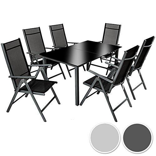 tectake aluminium sitzgarnitur 61 sitzgruppe gartenmbel tisch stuhl set diverse farben 0. Black Bedroom Furniture Sets. Home Design Ideas