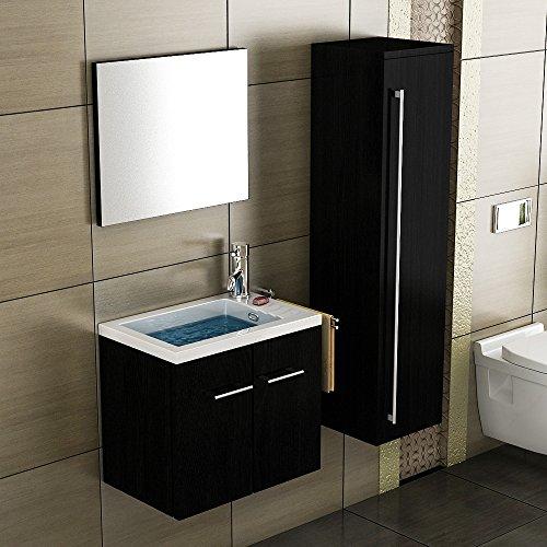 waschbecken mit unterschrank schwarz badmbel waschtisch gste wc waschpltz unterschrank. Black Bedroom Furniture Sets. Home Design Ideas