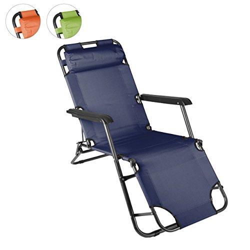 klappbare Sonnenliege Relaxliege Liegestuhl Klappliege Stahl