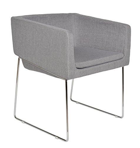 ts-ideen 1x Design Klassiker Sessel Wohnzimmer Küchen Büro Stuhl Esszimmer Sitz Grau