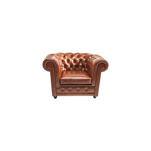 Kare Design Sessel Oxford Bycast Leder Cognac B115xT95xH76