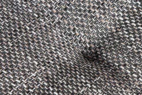 Großes Ecksofa SULTAN weiss Strukturstoff grau OT rechts