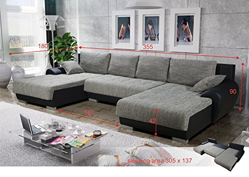 sofa couchgarnitur couch sofagarnitur leon 4 u polstergarnitur polsterecke wohnlandschaft mit. Black Bedroom Furniture Sets. Home Design Ideas