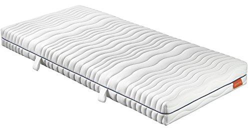 sleepling 190154 Matratze Comfort 120 Kaltschaum Härtegrad 3 140 x 200 cm, weiß