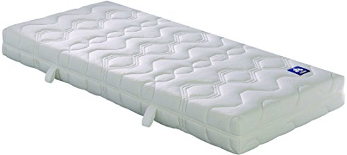 Badenia 3888360159 Bettcomfort Matratze, Irisette Lotus Tonnentaschenfederkern H3, 90x200 cm, weiß