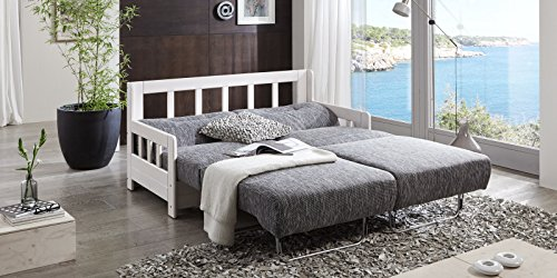 schlafsofa campus grau wei stoff sofa couch massiv holz schlafcouch bettfunktion 5 m bel24. Black Bedroom Furniture Sets. Home Design Ideas