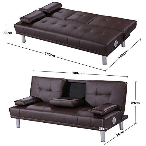 new manhattan funktionssofa m bluetooth braun schlafsofa. Black Bedroom Furniture Sets. Home Design Ideas