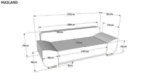 B famous schlafsofa mailand fk materialmix struktur und for Moebel24 shop