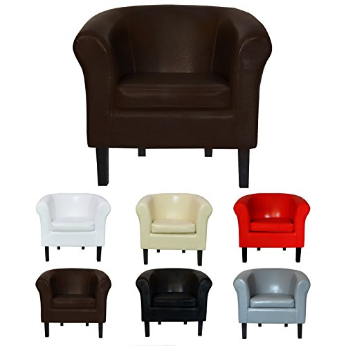 """TOP Sessel Clubsessel Loungesessel Cocktailsessel """"MONACO 2"""" Braun W364 04"""