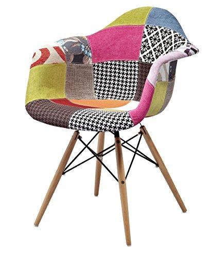 ARREDINITALY kleine design sessel gepolstert und Stoffbezug patchwork