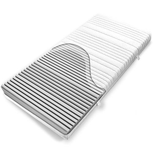 Ravensberger Kaltschaummatratze Softwelle, (90 x 200 cm), 7-Zonen Matratze (H1, Raumgewicht RG 40), Baumwoll-Bezug waschbar, LGA und TÜV geprüft
