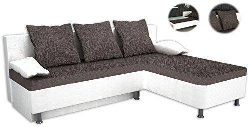 vcm 904088 ecksofa stylosa kunstleder couch mit schlaffunktion wei m bel24 shop xxxl. Black Bedroom Furniture Sets. Home Design Ideas