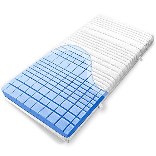 Ravensberger Kaltschaummatratze Struktura-Med 60, (80 x 200 cm), 7-Zonen Matratze (H2, Raumgewicht RG 60), Baumwoll-Bezug waschbar, LGA und TÜV geprüft