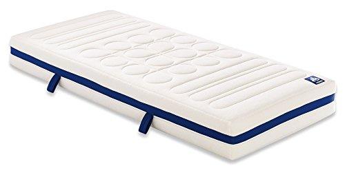 Badenia 3888400128 Bettcomfort, Irisette 7-Zonen Kaltschaummatratze Vitaflex Flextube Härtegrad 3, 90 x 190 cm, weiß