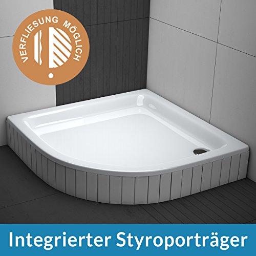 aquabad duschwanne comfort forta viertelkreis r55 zum befliesen m bel24. Black Bedroom Furniture Sets. Home Design Ideas