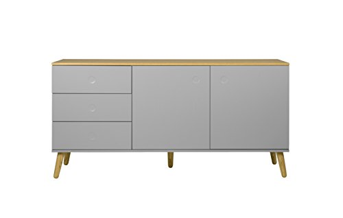Tenzo 1675-612 Dot Designer Sideboard Holz, grau / eiche, 43 x 162 x ...