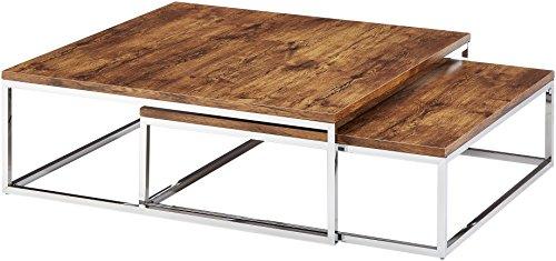 relaxdays couchtisch holz flat 2er set natur hbt 27 x 80 x 80 cm gro er wohnzimmertisch passt. Black Bedroom Furniture Sets. Home Design Ideas