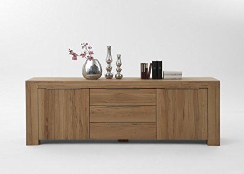 massivholz sideboard modern mit 2 t ren und 3 schubladen. Black Bedroom Furniture Sets. Home Design Ideas