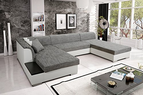 sofa couchgarnitur couch sofagarnitur kreta 4 u polstergarnitur polsterecke wohnlandschaft mit. Black Bedroom Furniture Sets. Home Design Ideas