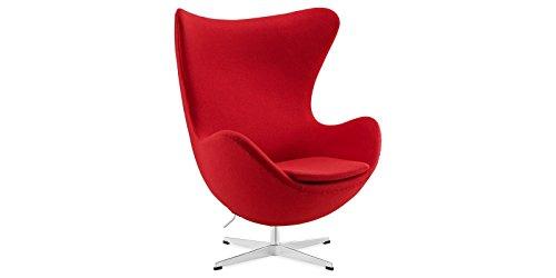 Sessel Stuhl Retro DIXON EGG Gepolstert Armlehnenstuhl Kaschmir Design Vetrostyle rot