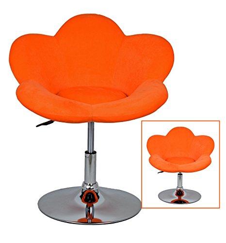 "1x Barhocker ""orange Blume"" in Blumenform Lounge Sessel Barsessel Clubsessel Cocktailsessel Drehsessel"