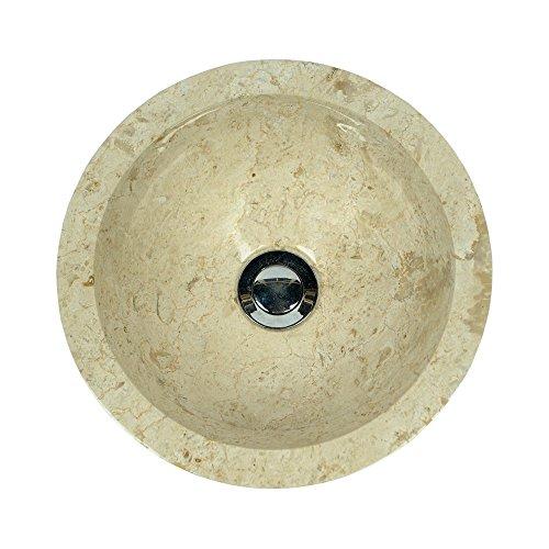 marmor waschbecken minijaya 30 cm creme naturstein waschschale handwaschbecken rund geh mmert. Black Bedroom Furniture Sets. Home Design Ideas