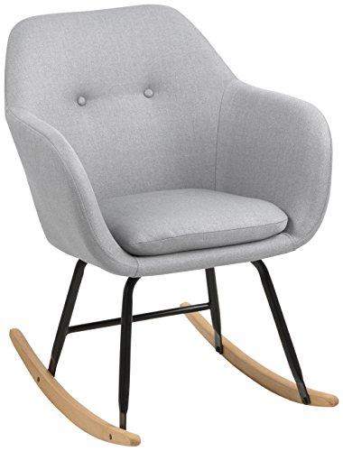 AC Design Furniture 65041 Schaukelstuhl, Stoff, hellgrau, 71 x 57 x 81 cm