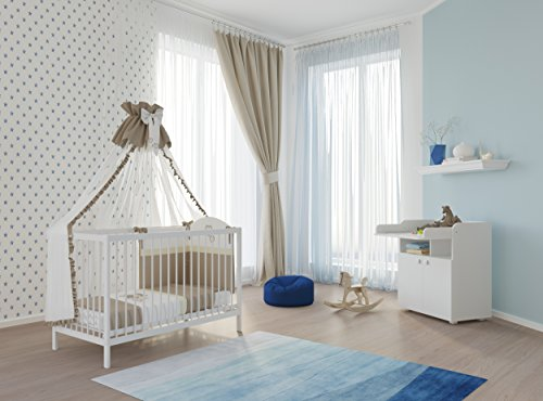 polini kids babyzimmer set mit babybett gitterbett und wickelkommode inclusive matratze in. Black Bedroom Furniture Sets. Home Design Ideas