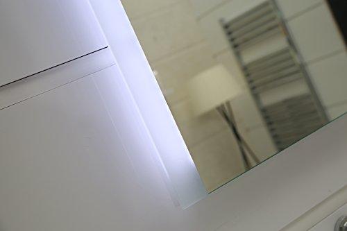 design badspiegel mit led beleuchtung gs043n lichtspiegel wandspiegel tageslichtwei ip44 50 x. Black Bedroom Furniture Sets. Home Design Ideas
