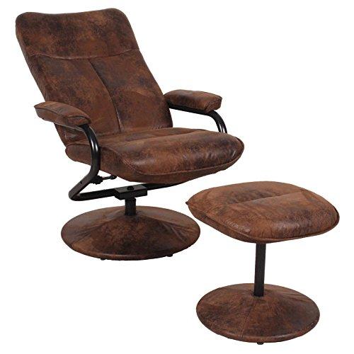 relaxsessel fernsehsessel dakota mit hocker im wildleder. Black Bedroom Furniture Sets. Home Design Ideas