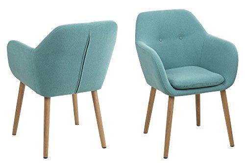 AC Design Furniture 0000059830Wendy Stuhl Stoff hellgrau 57x 59x 83cm