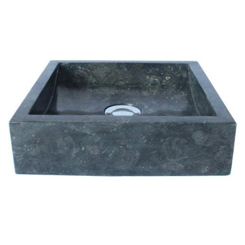 Wohnfreuden marmor waschbecken 30 cm grau recht eckig poliert steinwaschbecken oder naturstein - Waschtisch natursteinbecken ...