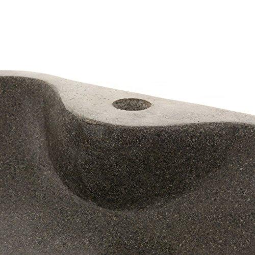 wohnfreuden naturstein waschbecken rund oval 50 cm poliert stein aufsatzwaschbecken f r g ste wc. Black Bedroom Furniture Sets. Home Design Ideas