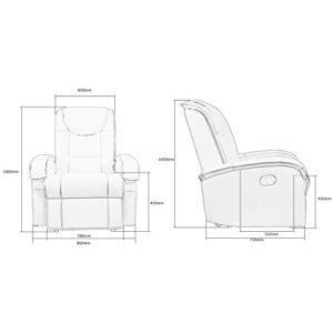 stilista tv relaxsessel aus echtem leder mit ausklappbarer fu st tze bequeme polsterung. Black Bedroom Furniture Sets. Home Design Ideas