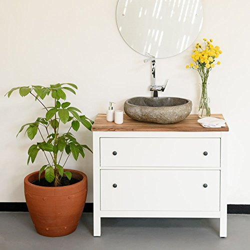 wohnfreuden naturstein waschbecken rund oval 50 cm poliert stein aufsatzwaschbecken f r g ste wc. Black Bedroom Furniture Sets. Home Design Ideas