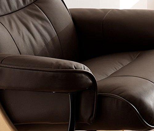 robas lund relaxsessel montreal mit hocker leder braun 82 x 84 132 x 105 cm 64022bn5 m bel24. Black Bedroom Furniture Sets. Home Design Ideas