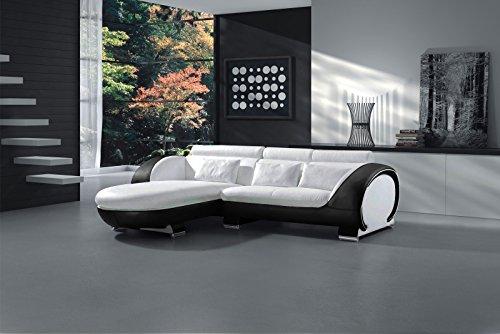 SAM® Ecksofa Vigo Combi 1 181 x 242 cm in weiß schwarz links Polsterecke Couch Sofa