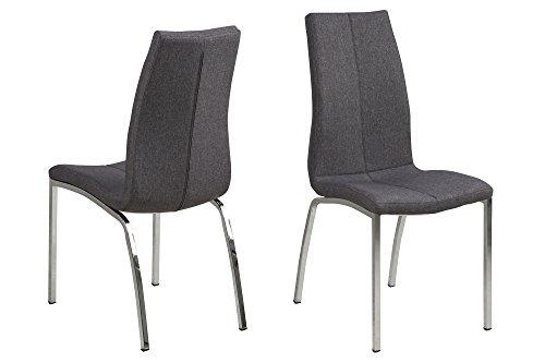 AC Design Furniture Elisabeth Stuhl, Stoff, Grau, 57 x 43,5 x 95 cm