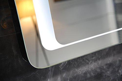 design badspiegel lichtspiegel gs050 led beleuchtung touch schalter wandspiegel tageslichtwei. Black Bedroom Furniture Sets. Home Design Ideas
