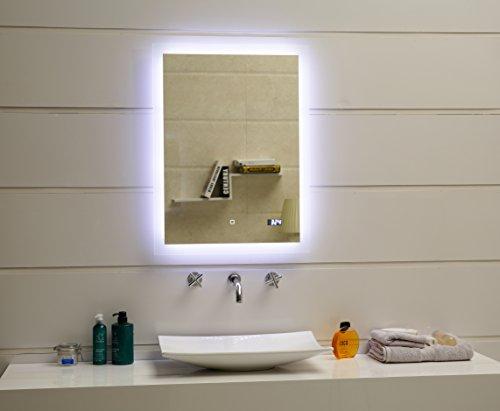 Design led beleuchtung badspiegel gs084d dimmbar lichtspiegel wandspiegel mit touch schalter - Badspiegel led touch ...